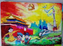 """北新村小学开展""""小小画笔知党情 童心共绘中国梦""""绘画比赛活动"""